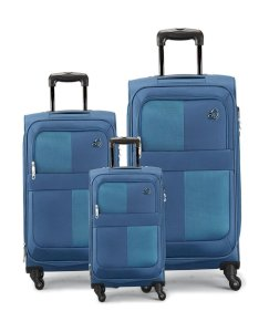 Kamiliant Oromo Plus Spinner Luggage (55+69+81cm) – Blue