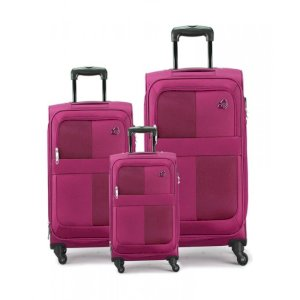 Kamiliant Oromo Plus Spinner Soft Luggage - Magenta (55X69X81CM)