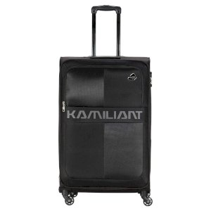Kamiliant by American Tourister Kam Oromo Polyester 58 cms Teal Blue Softsided Cabin Luggage (KAM Oromo SP (55+69+81cm)- Black)