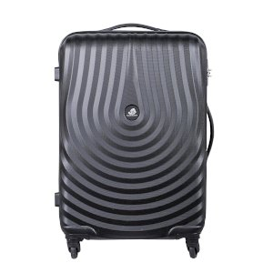 Kamiliant Polycarbonate Black Travel Bag (41x58x28)